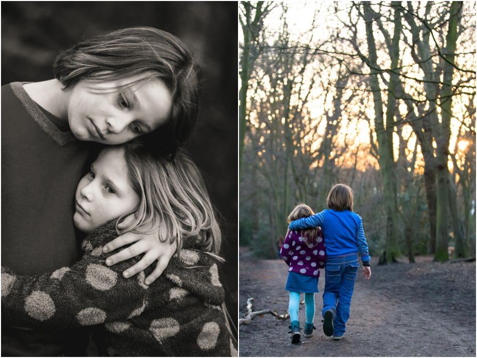 Family photography in Highgate woods